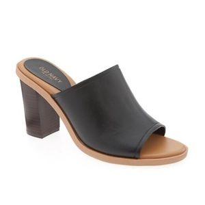 Black opened toed mule/clog